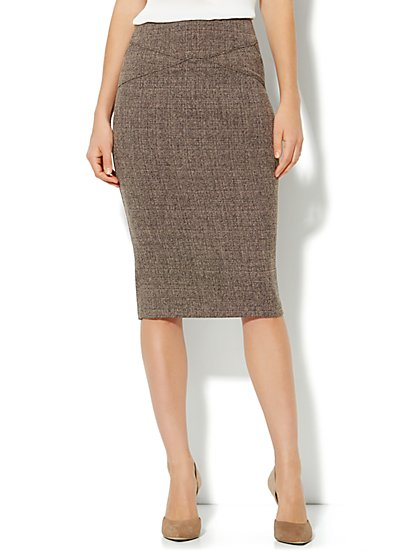 7th Avenue Suiting Collection - Heritage Tweed Pencil Skirt - New York & Company