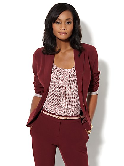 7th Avenue Suiting Collection Jacket - Black Cherry
