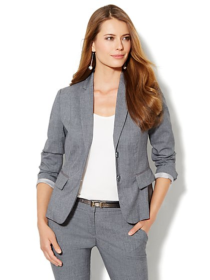7th Avenue Suiting Collection Jacket - Carlson Grey - New York & Company