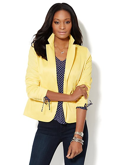 7th Avenue Suiting Collection Jacket - Delightful Daisy - New York & Company