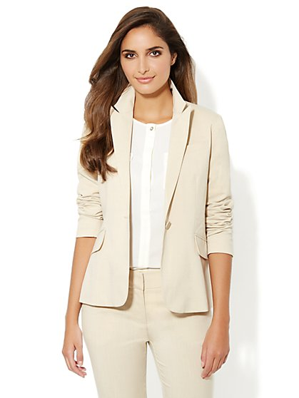 7th Avenue Suiting Collection Jacket - Driftwood - Petite