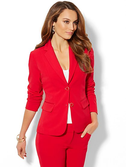 7th Avenue Suiting Collection Jacket - Flamenco Red  - New York & Company
