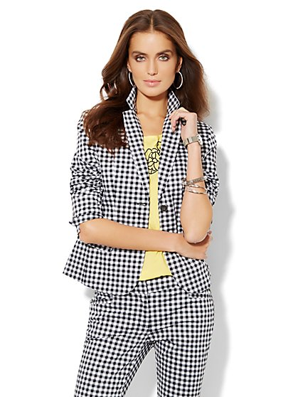 7th Avenue Suiting Collection Jacket - Gingham - Petite - New York & Company