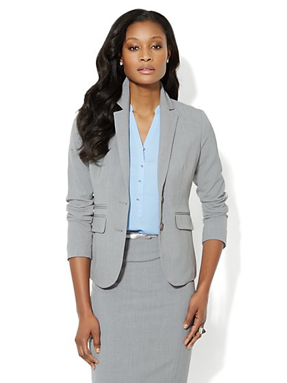 7th Avenue Suiting Collection Jacket - Grey - Average