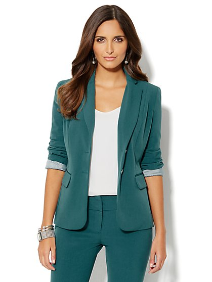 7th Avenue Suiting Collection Jacket - Ocean Teal - New York & Company