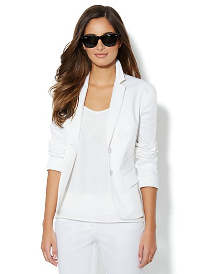 7th Avenue Suiting Collection Jacket - Optic White - New York & Company