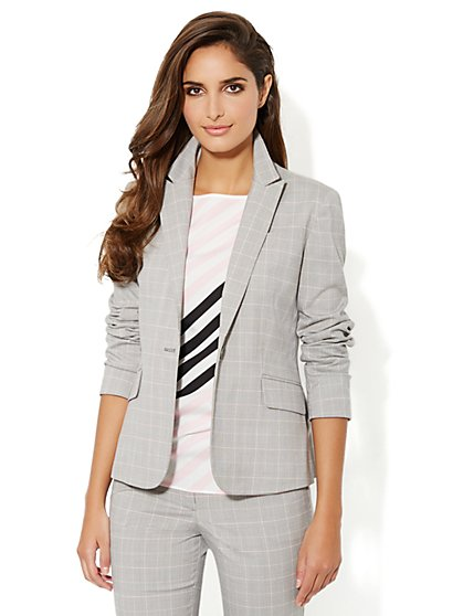 7th Avenue Suiting Collection Jacket - Plaid - New York & Company