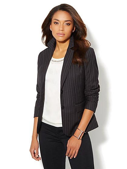 7th Avenue Suiting Collection Jacket - Rhonda Stripe  - New York & Company