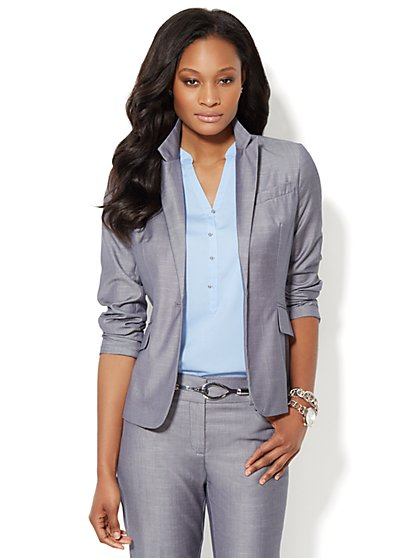 7th Avenue Suiting Collection Jacket - Venus Blue - New York & Company