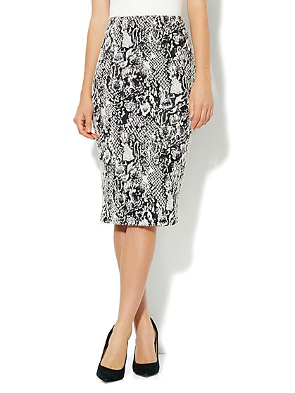 7th Avenue Suiting Collection - Jacquard Pencil Skirt