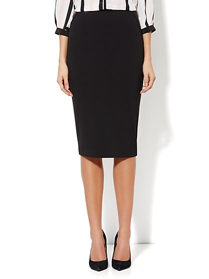 7th Avenue Suiting Collection Long Seamed Pencil Skirt