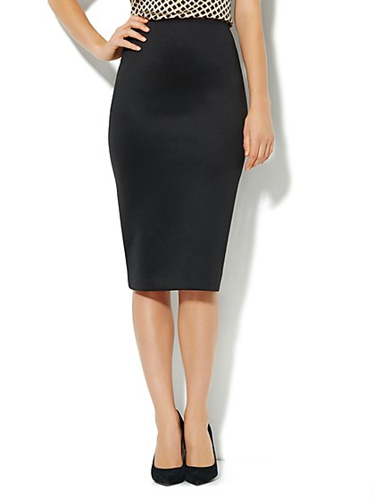 7th Avenue Suiting Collection - Midi Pencil Skirt - Scuba - New York & Company