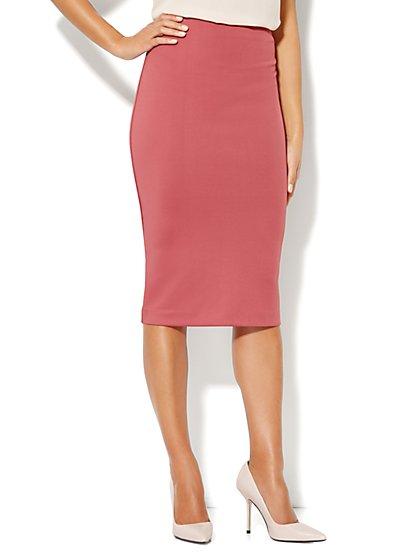 7th Avenue Suiting Collection - Midi Pencil Skirt - Scuba - New York & Company