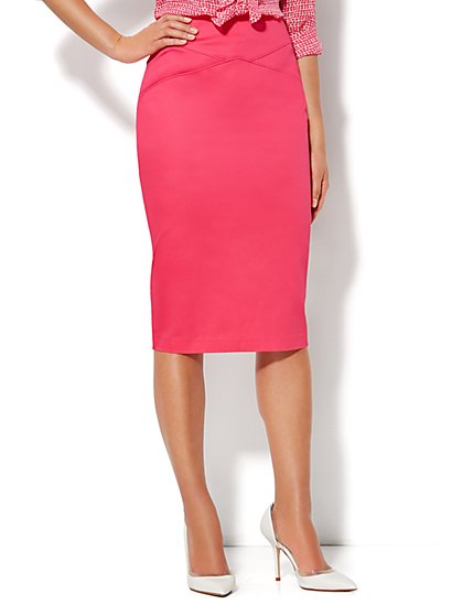 7th Avenue Suiting Collection Pencil Skirt - Cotton Sateen - New York & Company