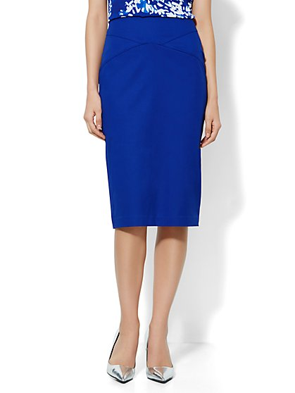 7th Avenue Suiting Collection Pencil Skirt - Cotton - New York & Company