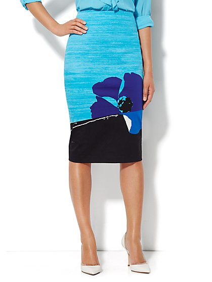 7th Avenue Suiting Collection Pencil Skirt - Floral Print - New York & Company