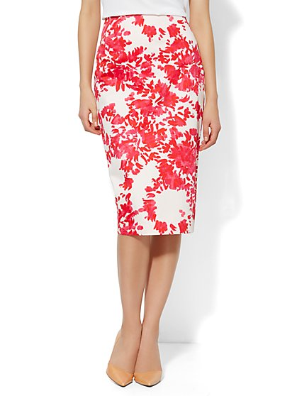 7th Avenue Suiting Collection Pencil Skirt - Floral  - New York & Company