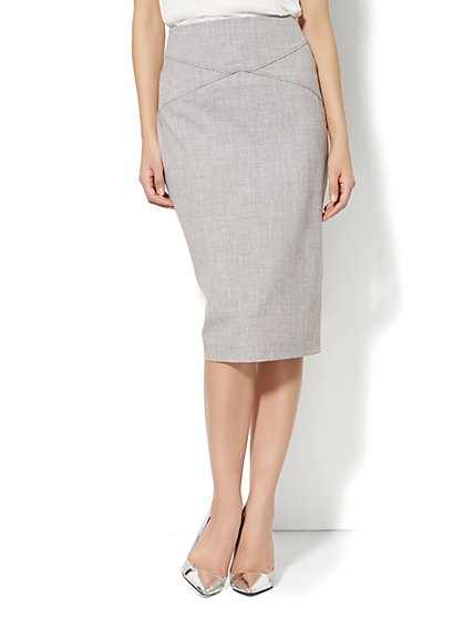 7th Avenue Suiting Collection - Pencil Skirt - Grey  - New York & Company