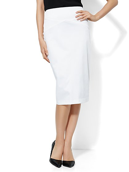 7th Avenue Suiting Collection Pencil Skirt - Twill - Petite - New York & Company