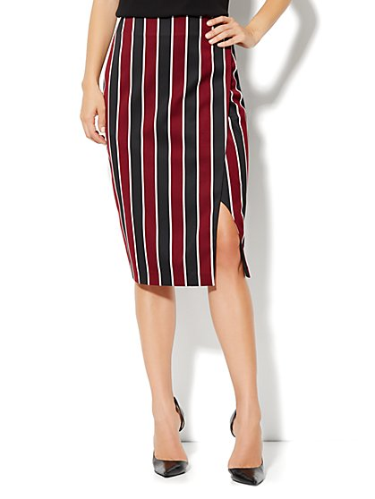 7th Avenue Suiting Collection Pencil Wrap Skirt