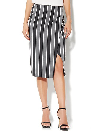 7th Avenue Suiting Collection Pencil Wrap Skirt  - New York & Company