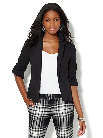 7th Avenue Suiting Collection Seamed Jacket - New York & Company
