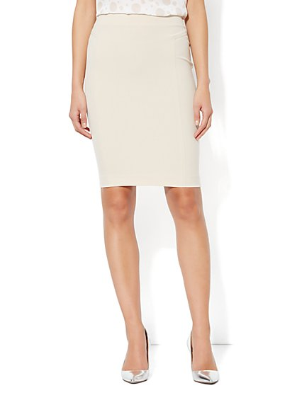 7th Avenue Suiting Collection Seamed Pencil Skirt - Average