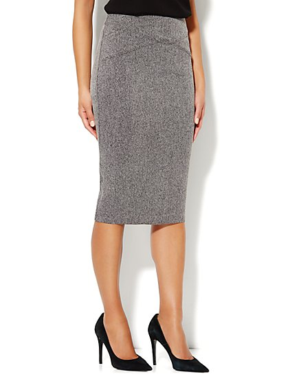 7th Avenue Suiting Collection Seamed Pencil Skirt - New York & Company