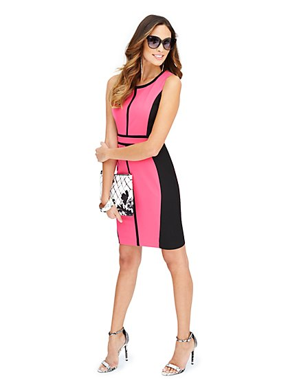 7th Avenue Suiting Collection Sheath Dress - Colorblock - Petite - New York & Company