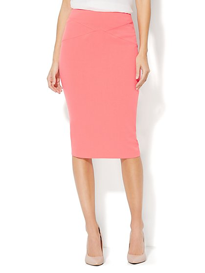 7th Avenue Suiting Collection - Solid Pencil Skirt  - New York & Company