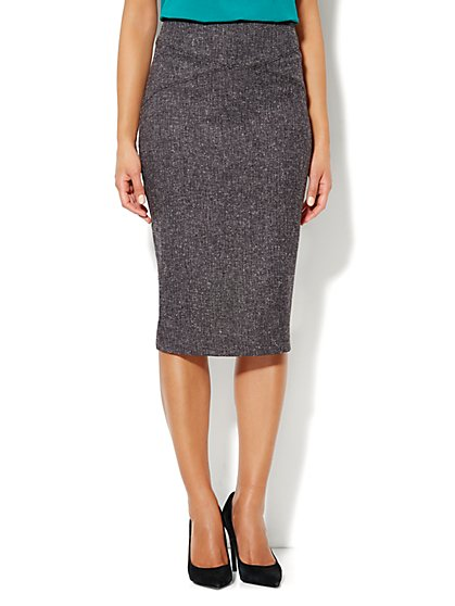 7th Avenue Suiting Collection Tweed Pencil Skirt - New York & Company