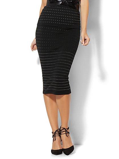 7th Avenue - Sweater Pencil Skirt - Black - New York & Company