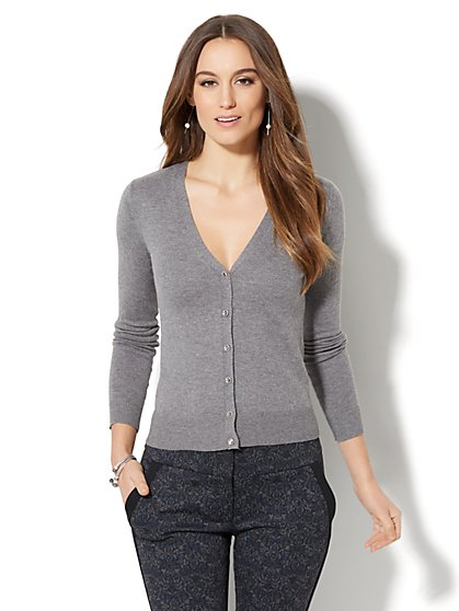 7th Avenue - V-Neck Chelsea Cardigan - New York & Company