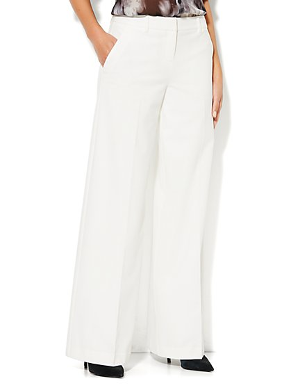 7th Avenue Wide Leg Trouser - Winter White  - New York & Company