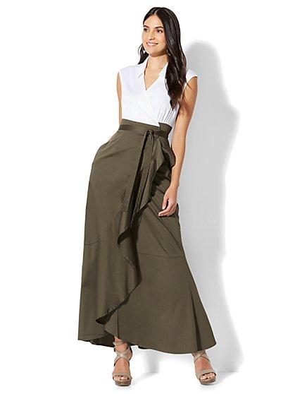 7th Avenue - Wrap Poplin Dress - New York & Company