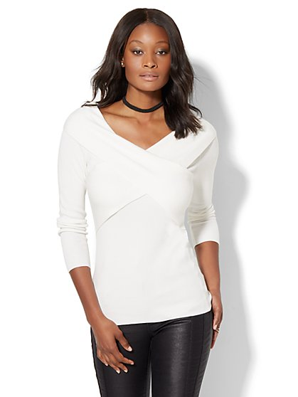 7th Avenue - Wrap Sweater  - New York & Company
