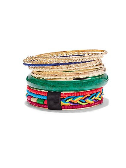 9-Piece Bangle Bracelet Set  - New York & Company