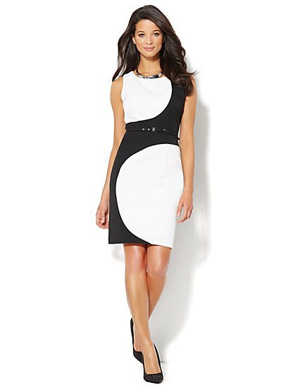 Abstract Circle-Print Sheath Dress  - New York & Company