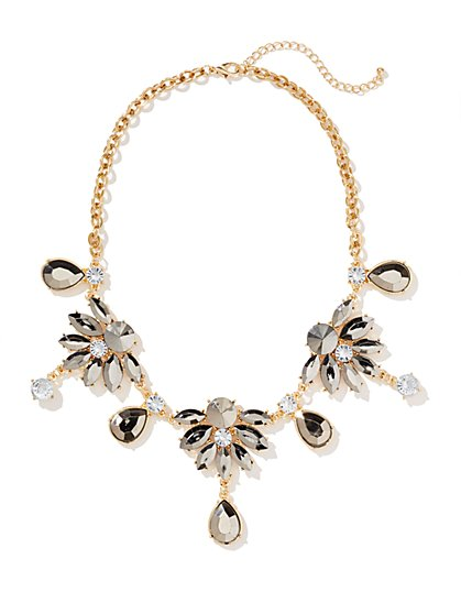 Abstract Floral Pendant Necklace  - New York & Company