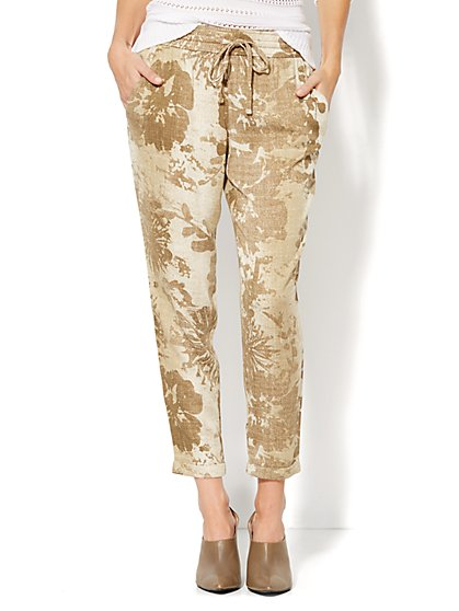 Abstract Floral-Print Jogger Pant  - New York & Company