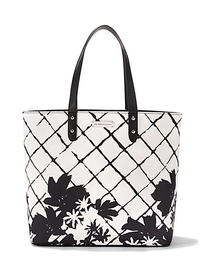 Abstract Floral Tote  - New York & Company