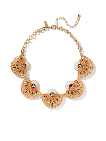 Abstract Flower Collar Necklace  - New York & Company