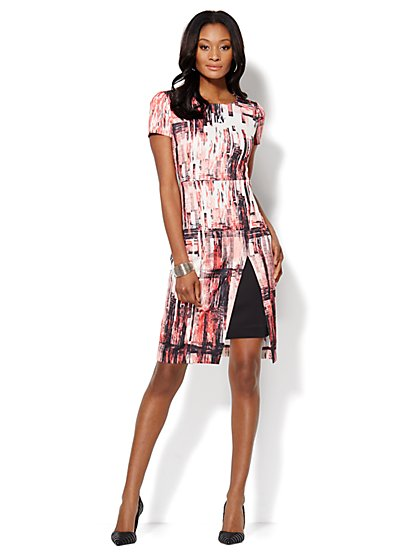 Abstract Laser-Print Scuba Sheath Dress - New York & Company