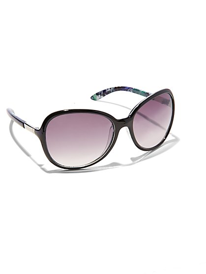 Abstract Multicolor Sunglasses  - New York & Company