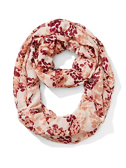 Abstract-Print Infinity Scarf - New York & Company