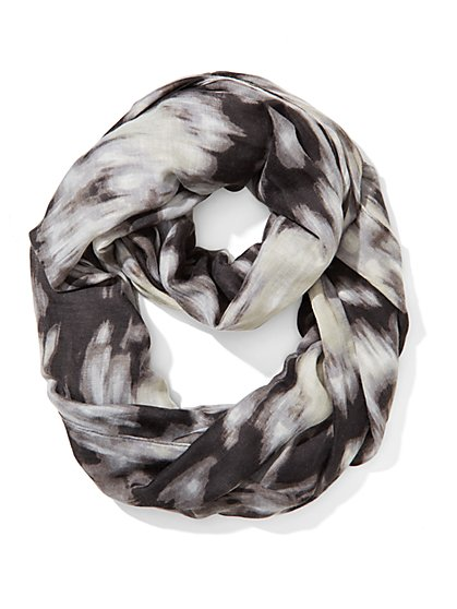 Abstract Watercolor Infinity Scarf  - New York & Company
