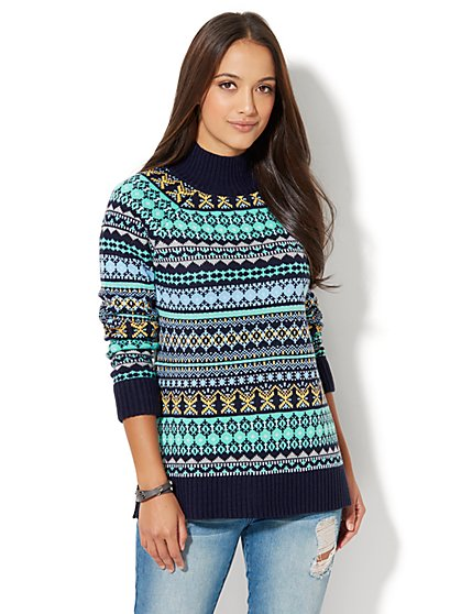 All-Over Fair Isle Sweater - New York & Company