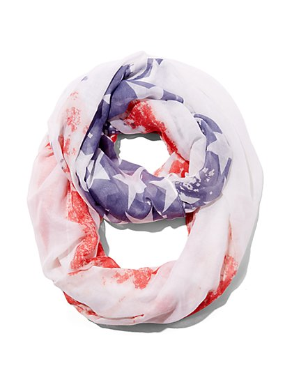 American Flag Circle Scarf  - New York & Company