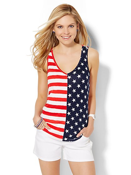 American Flag Tank Top  - New York & Company