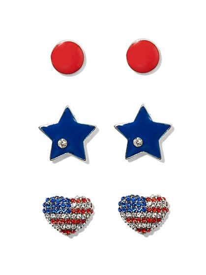 Americana Post Earring Set  - New York & Company